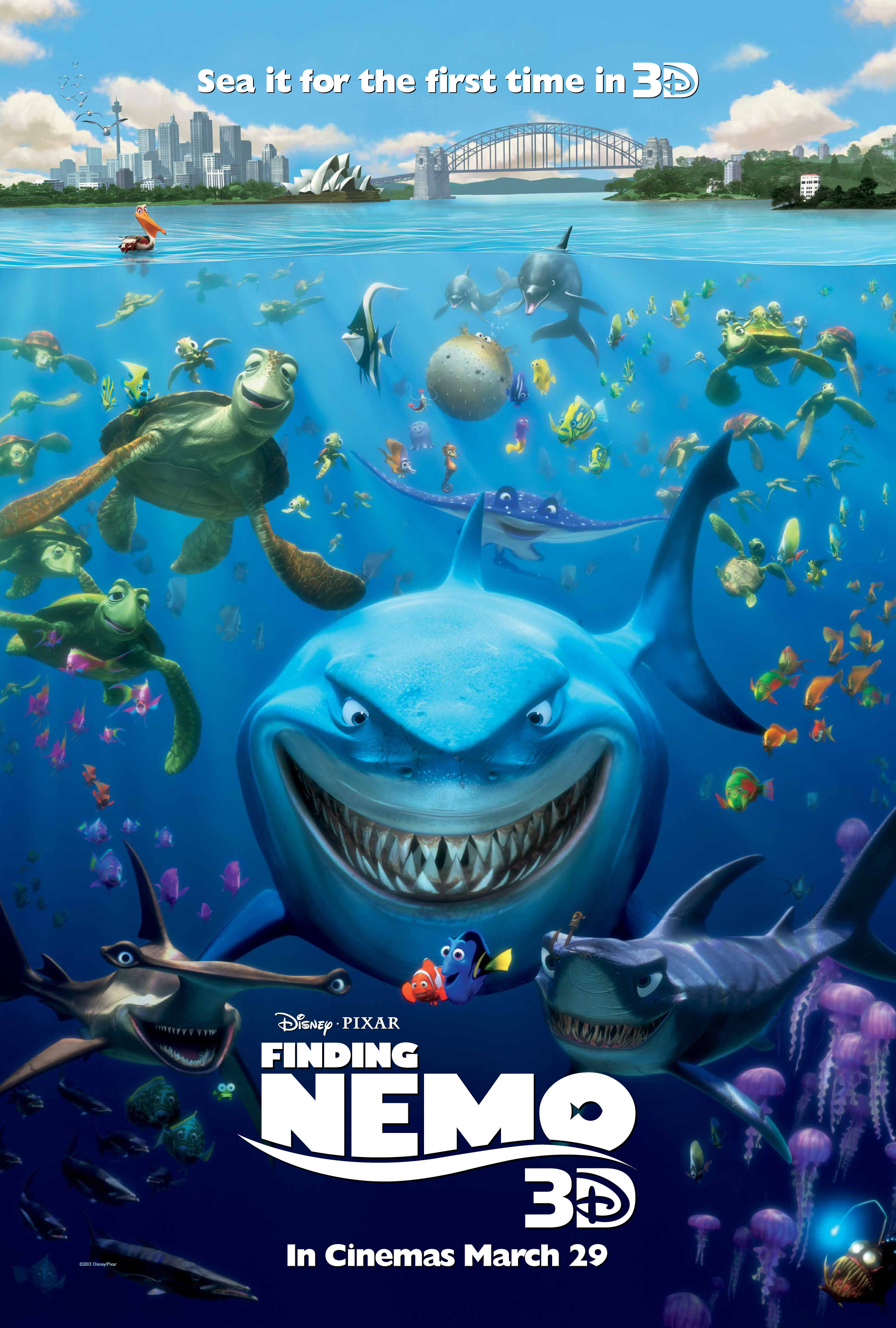 First UK Poster for Finding Nemo 3D