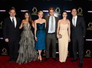 Sam Raimi, Mila Kunis, Michelle Williams, James Franco, Rachel Weisz and Zach Braff